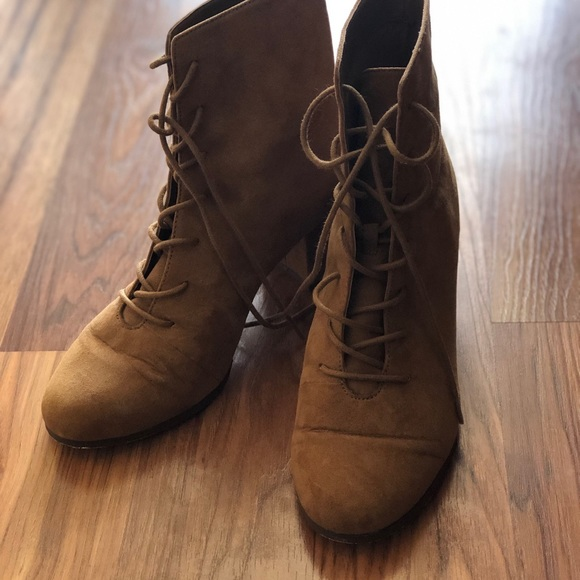 Brown Suede Lace Up Boots Forever